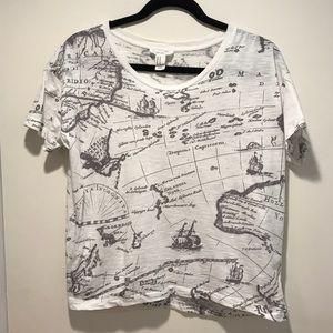 NWOT Map Shirt